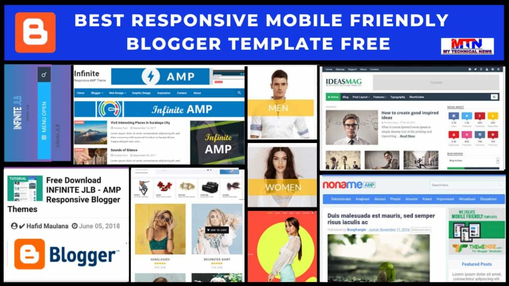 Best Responsive Mobile Friendly Blogger Template Free 2020 | My Technical News