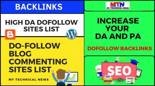 Do Follow Blog Commenting Sites List 2020-21.