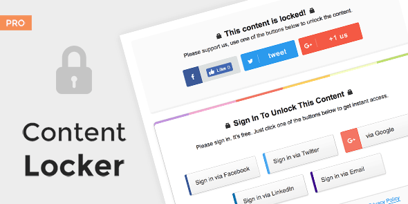 Content Locker Pro – Premium WordPress Plugin Free Download