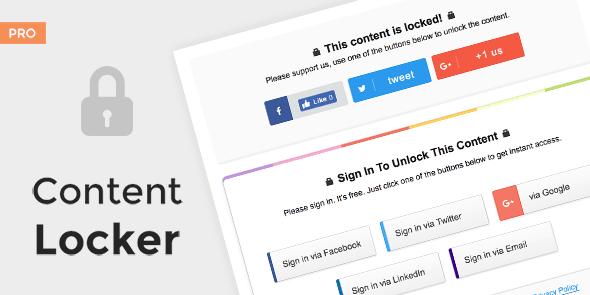 Content Locker Pro – Premium WordPress Plugin Free Download