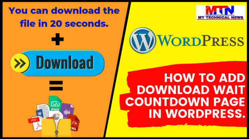 Easy Way Add Download Wait Countdown Page in WordPress.