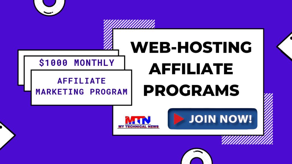 Top Best Web-Hosting Affiliate Programs In 2019-20