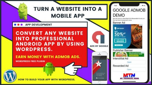 Free Turn Your Website Into An Android App | Earn Money With Admob In 2020