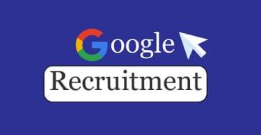 Google Jobs recruitment.