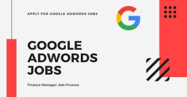 Apply for Google Adwords Jobs Finance Manager, Ads Finance
