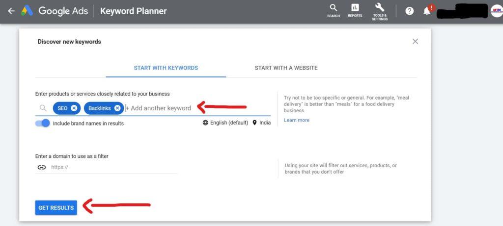 How to use Google Keyword Planner Tool.   Free Keywords Ideas.