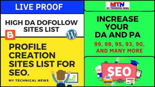 40+ (100% Real) Dofollow Profile Creation Sites List. (2021Update)