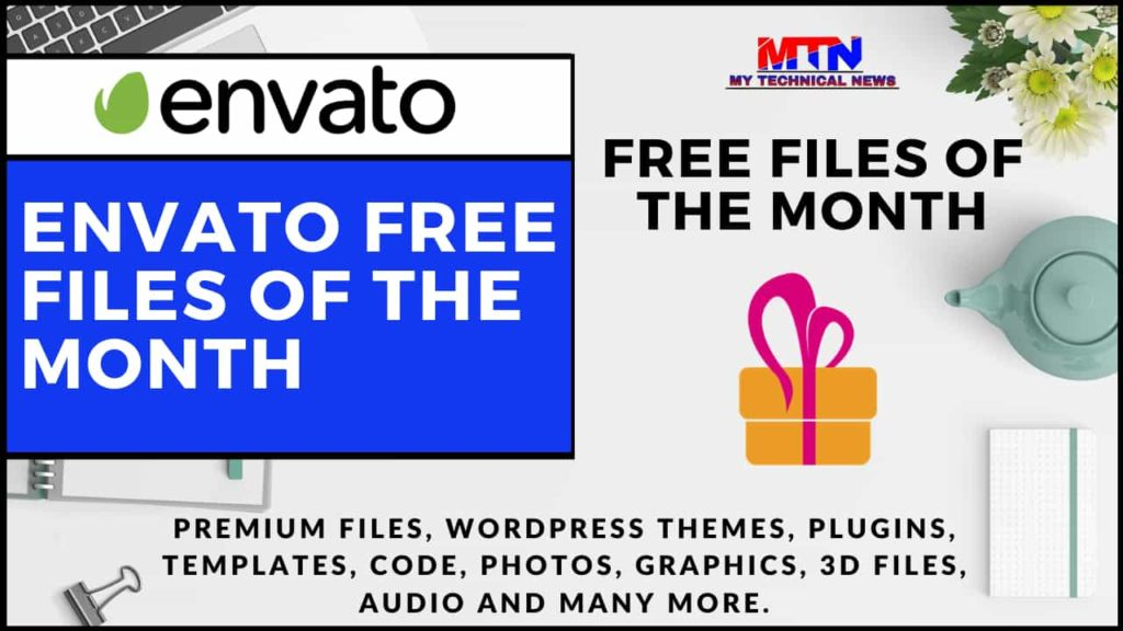 Grab Free Premium Files Of The month On Envato.