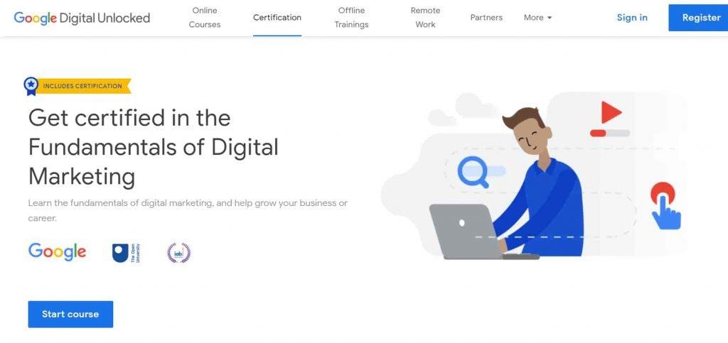 google Online Courses