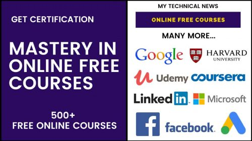 Mastery In Online Free Courses – 100% Certified