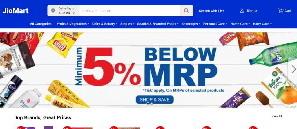 Reliance JioMart Service - India's Most Convenient Online Grocery Store.