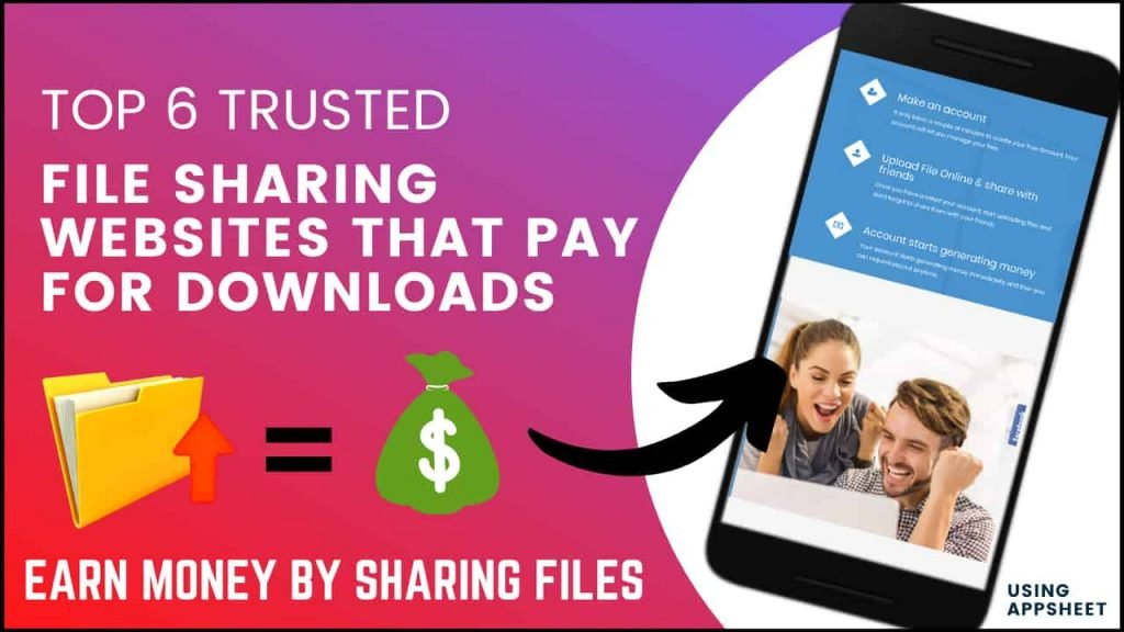 Top 5 Trusted File Sharing Websites that Pay for Downloads