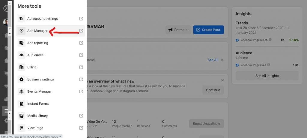 Create Facebook Ads In 2021 & Grow Your Youtube Channel Fast   Facebook Ads For Beginners