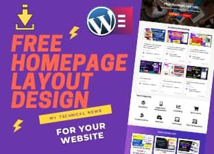 Download Free Website Homepage Layout Using Elementor